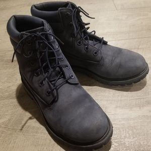 Women's/Youth Blue Suede Timberland Boots